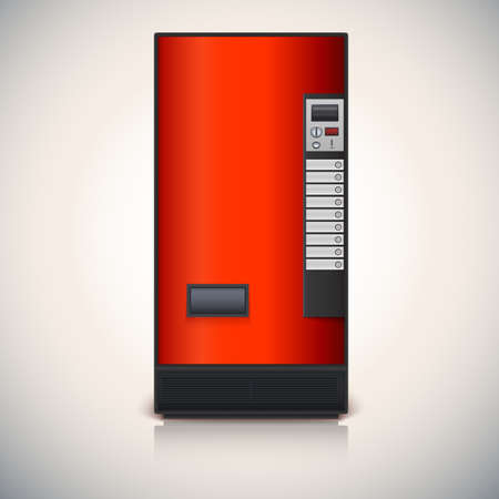 Vending machine for the sale of drinks. Vector drawing for your design and advertisements Çizim