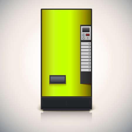 distribution automatique: Distributeur de la vente de boissons Illustration