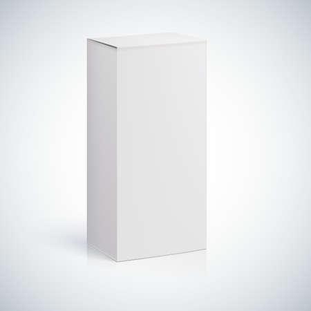 Weiße leere Box mit leeren Raum für eigenen Text oder Bild.