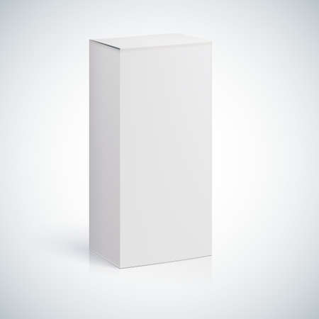 cigarette pack: White blank box with empty space for custom text or image.