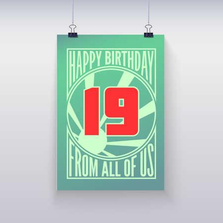 nineteen: Auguri di buon compleanno, diciannove anni