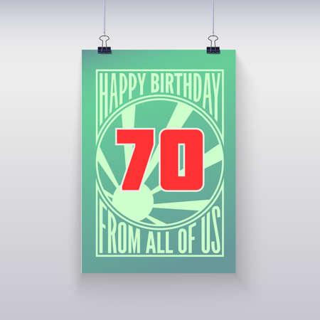 seventy: Auguri di compleanno, 70 anni