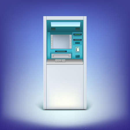 Cash machine closeup Vector