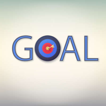 Goal icon. Business target concept for you design Illustration