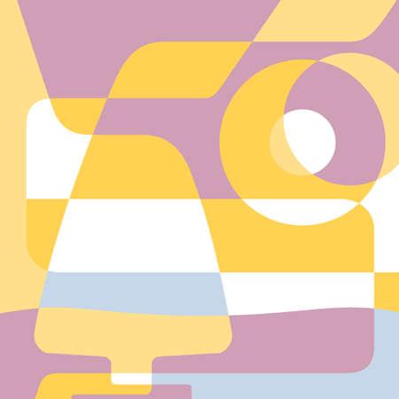 abstracte vormen: Silhouet glazen cognac en abstracte vormen