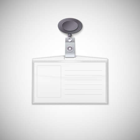 Badge holder  Vector Realistic Card Name or Id Holder Vector