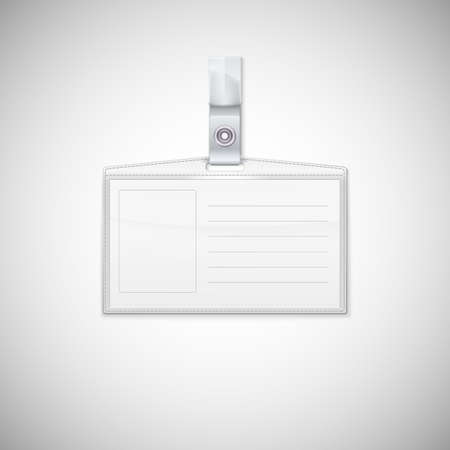name badge: Badge holder  Vector Realistic Card Name or Id Holder