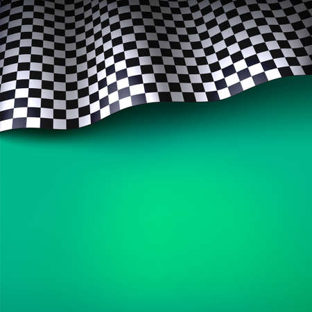 formula one racing: Checkered flag  Vector background with space for your text