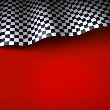 Checkered flag  Vector background with space for your text