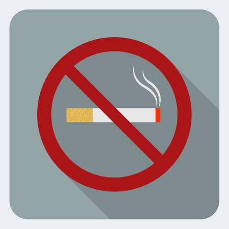No smoking flat icon  Stop smoking symbol  Icon for public places