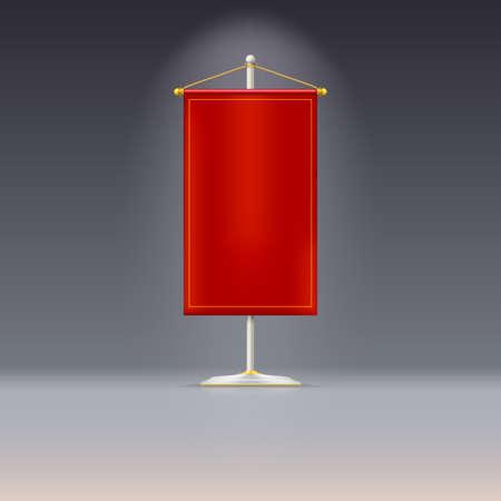 chrome base: Fiamma rossa o bandiera su base cromata con cavo d'oro