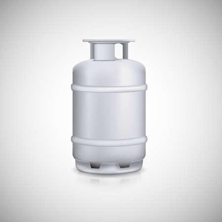 pressure bottle: Globo de gas propano. Tanque de gasolina de aluminio, dep�sito de gas. Vectores