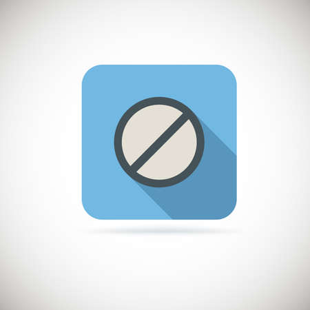 single entry: Not allowed sign, ban flat icon. Vector for you design