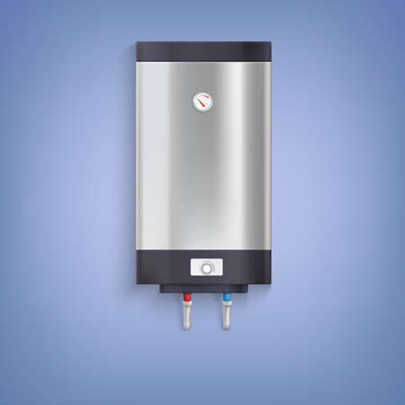 thermodynamic: Water heater. Hot-water tank, chrome plated with a regulator and thermometer