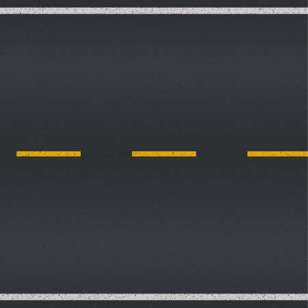 Asphalt road texture with white and yellow stripes