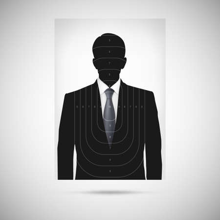 Human silhouette target. Unknown person, silhouette profile Vector