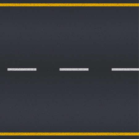 Trama Asfalto strada con strisce bianche e gialle