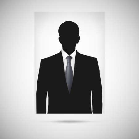 unnamed: Profile picture whith tie. Unknown person silhouette, silhouette profile
