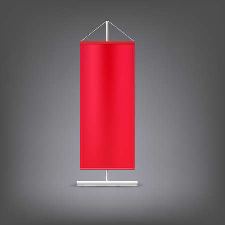 Red advertising stand. Blank vector illustration. Template for design work Vector