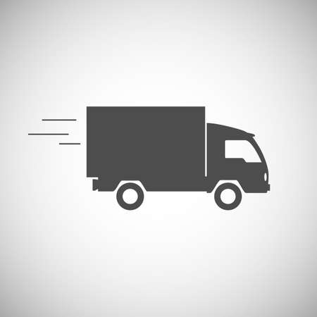 pickup truck: Delivery truck contour, flat icon. Editable vector illustration. Illustration