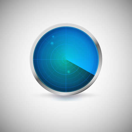 Radial screen of blue color with target