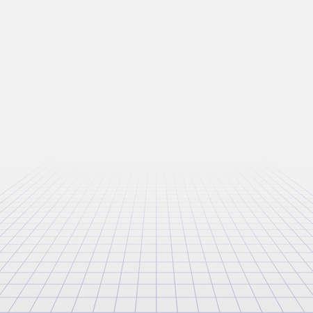 Abstracte achtergrond met perspectief raster. Vector illustratie Stock Illustratie
