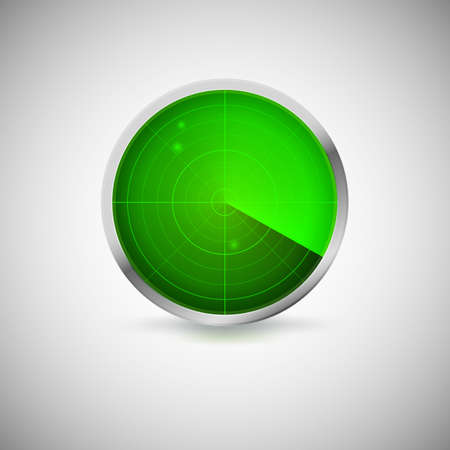 targets: Radial screen of green color with targets. Vector icon for your business