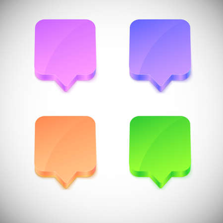 Vector glossy 3d speech bubbles with place for your informations.
