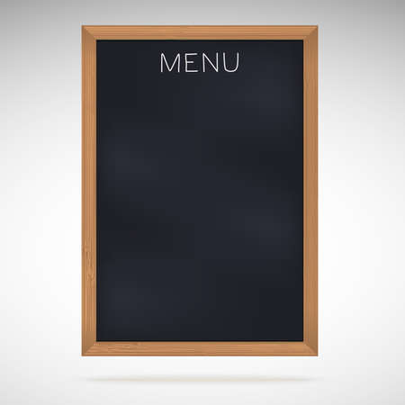 copy: Menu blackboards or chalkboards with copy space