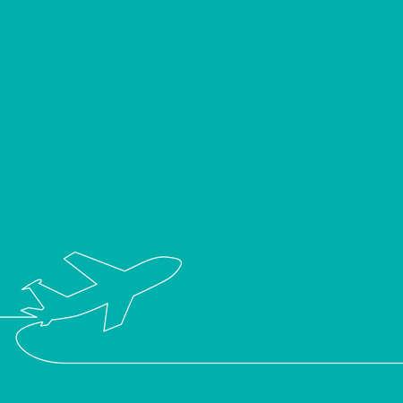 taking off: Antecedentes para el arranque. Avi�n despegando, ilustraci�n del vector del esquema.
