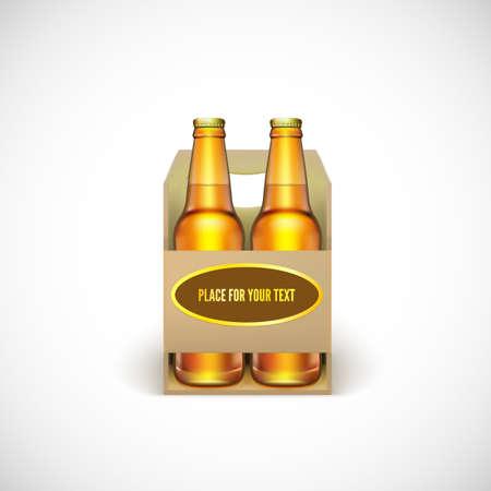 Packaging of beer isolated on white background. Ilustração