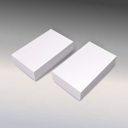 paperboard packaging: White product cardboards, vector package boxes mockup. Illustration for your design.