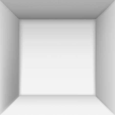 ボックスの上部のビュー。ボックスの内側のスペース。