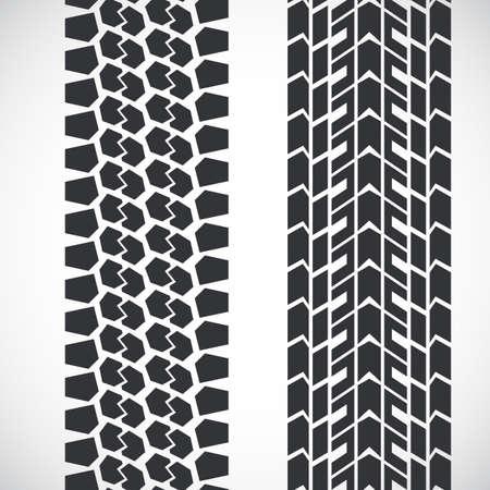 Tread pattern tyre. Stock Illustratie