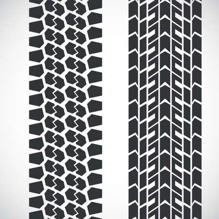 Tread pattern tyre. 向量圖像