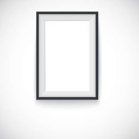 wood frame: Picture wood frame vertical Illustration