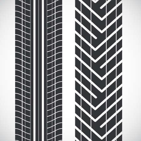 rodamiento: Pise patrón de los neumáticos. Vectores