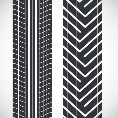 tyre tread: Tread pattern tyre. Illustration