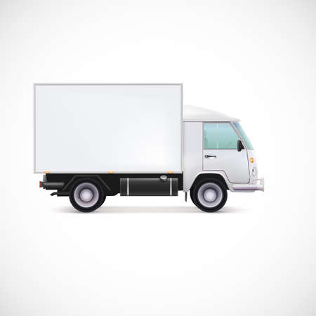 Delivery Car. White commercial vehicle, vector illustration for your business Imagens - 39385063