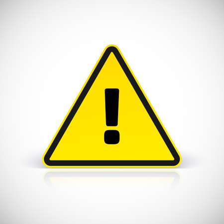 advertencia: Advertencia de peligro muestra de la atenci�n con el s�mbolo de exclamaci�n. Ilustraci�n vectorial para su dise�o y presentaci�n. Vectores