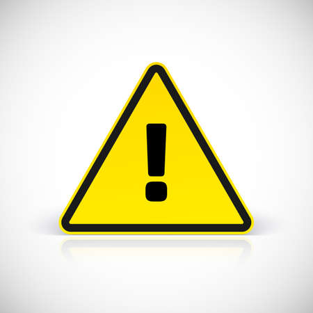 Hazard warning attention sign with exclamation mark symbol. Vector illustration for your design and presentation. Imagens - 39575351