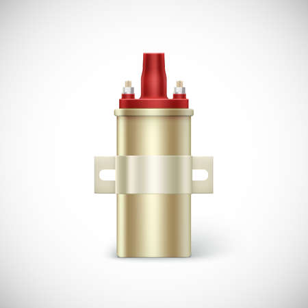igniter: Igniter coil car part.  Vector illustration isolated on white background