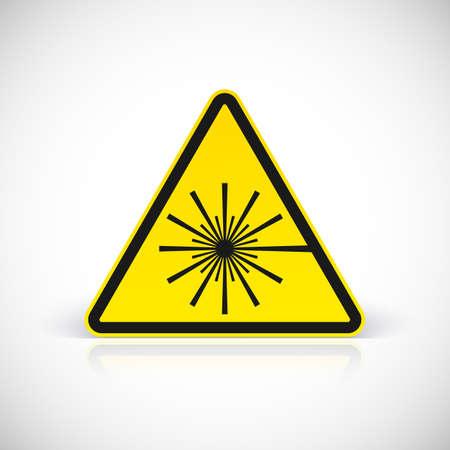laser hazard sign: Laser Hazard warning sign.. Vector illustration for your design and presentation. Illustration