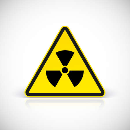 caution chemistry: Radiation hazard signs. Vector illustration for your design and presentation.