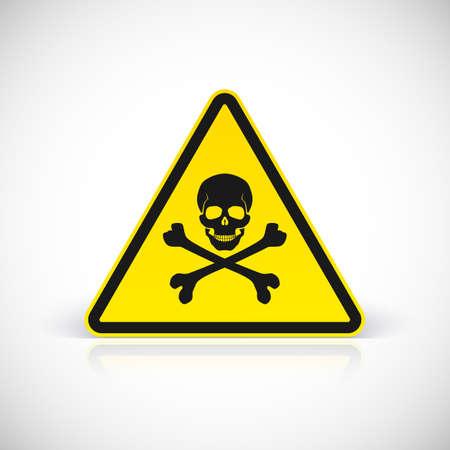 riesgo quimico: Calavera y tibias cruzadas símbolo, ilustración vectorial para su diseño y presentación. Vectores