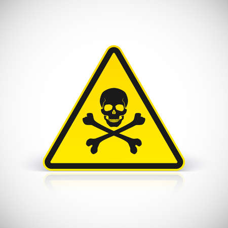 voltage danger icon: Skull and crossbones symbol, vector illustration for your design and presentation.
