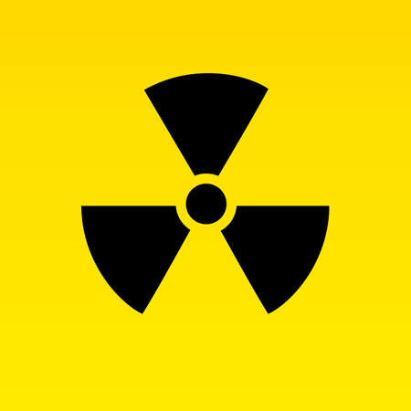 radiation hazard: Radiation hazard signs. Vector illustration for your design and presentation.