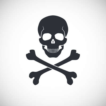 electricity danger of death: Skull and crossbones symbol, vector illustration for your design and presentation.