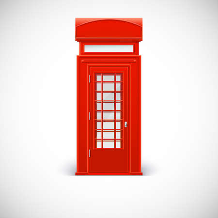 telephone box: Telephone box, Londone style. Vector illustration isolated on a white background
