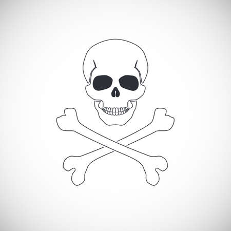 crossbones: Skull and crossbones symbol, vector illustration for your design and presentation.